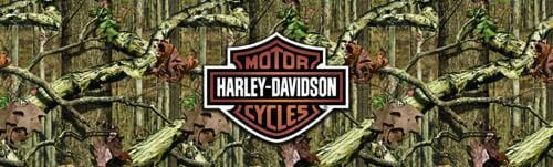 Mossy Oak Harley-Davidson Rear Window Graphic - Custom Vinyl Graphics