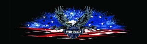 Shining Sea Harley-Davidson Rear Window Graphic - Custom Vinyl Graphics