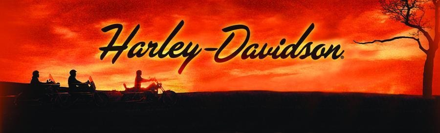 Sunset Riders Harley-Davidson Rear Window Graphic - Custom Vinyl Graphics