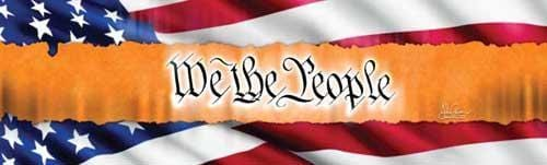 We The People Rear Window Graphic - Custom Vinyl Graphics