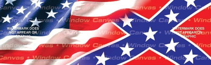 American Heritage Southern Pride Rear Window Graphic - Custom Vinyl Graphics
