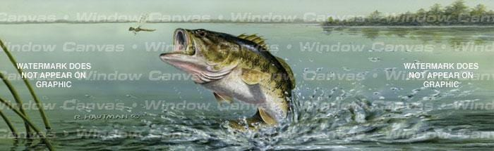 Large Mouth Bass Rear Window Graphic - Custom Vinyl Graphics