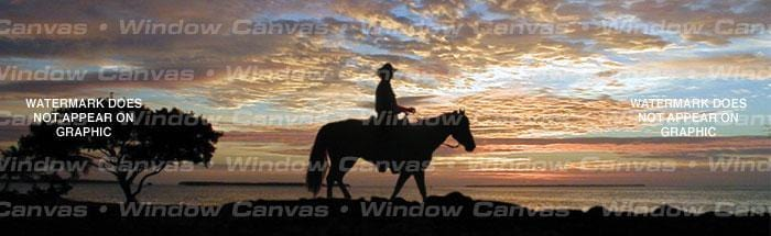 Lone Ranger Rear Window Graphic - Custom Vinyl Graphics