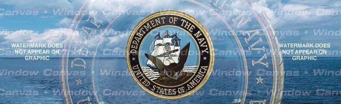 Navy Pride Rear Window Graphic - Custom Vinyl Graphics
