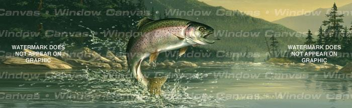 Rainbow Trout Rear Window Graphic - Custom Vinyl Graphics
