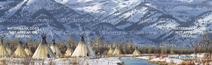 Shoshone Village Rear Window Graphic - Custom Vinyl Graphics