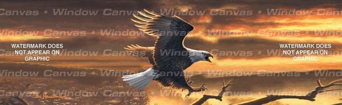 Sunset Bald Eagle Rear Window Graphic - Custom Vinyl Graphics