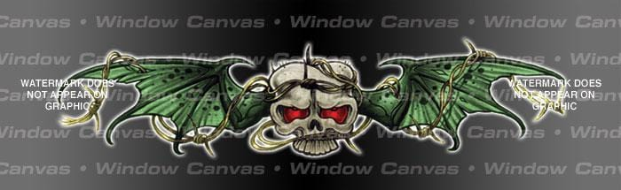 Trapped Skull Rear Window Graphic - Custom Vinyl Graphics
