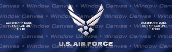 USAF Rear Window Graphic - Custom Vinyl Graphics