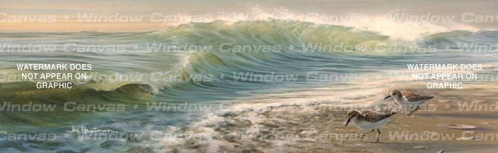 Waves And Sanderlings Rear Window Graphic - Custom Vinyl Graphics