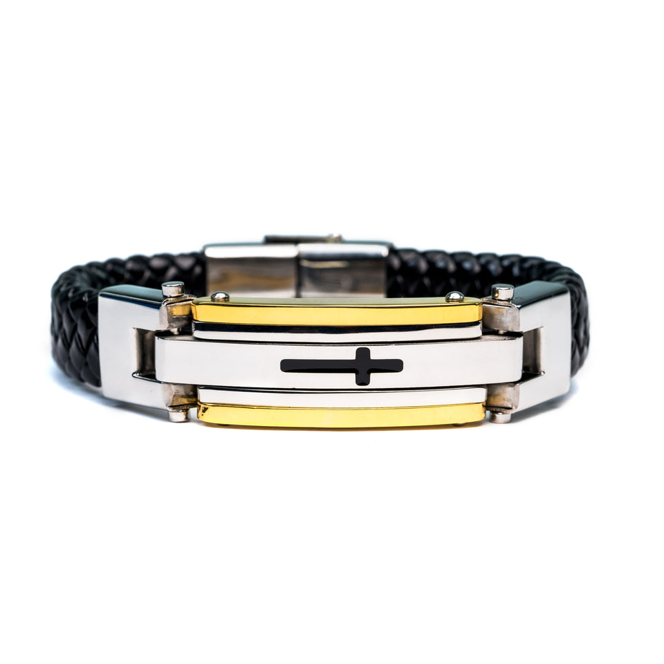 PREMIUM LEATHER CROSS BRACELET SERIES