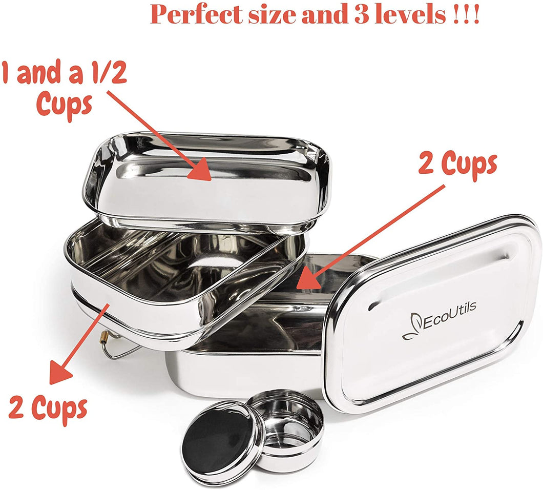 Stainless Steel Bento Lunch Box .