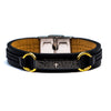 GENUINE LEATHER LORD'S PRAYER BRACELET (ENGLISH) .