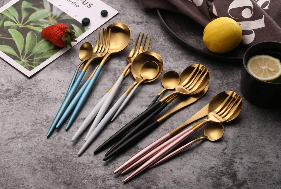 Black Plated Stainless Steel Flatware