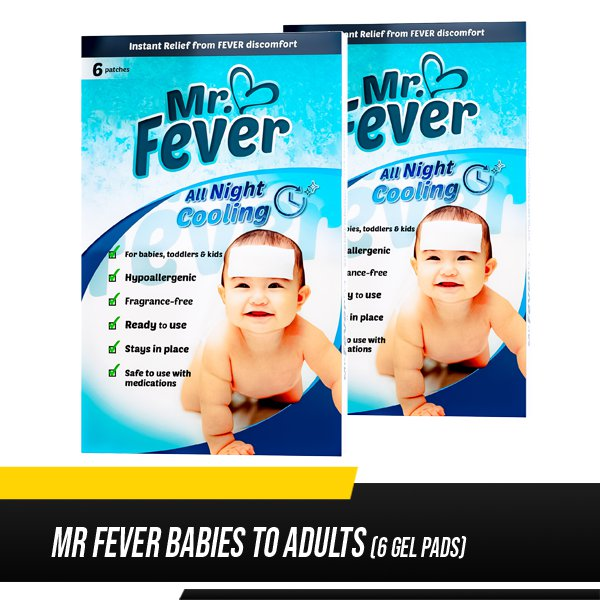 Mr Fever (6 Gel Pads) Babies to Adults