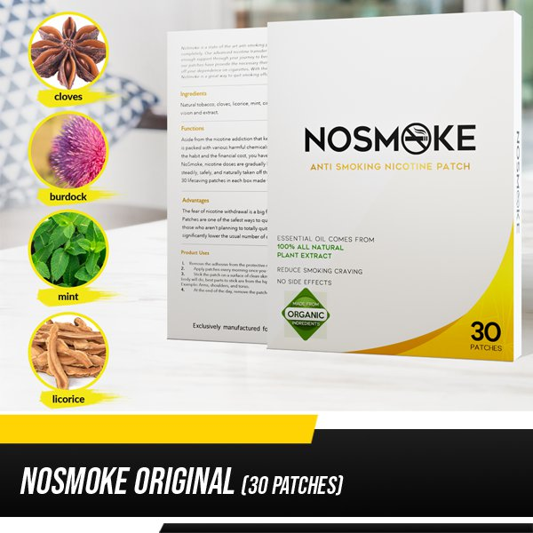 NoSmoke Original (30 patches per box)