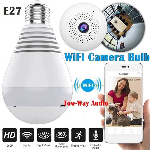 Bulb Panoramic Wifi Camera .