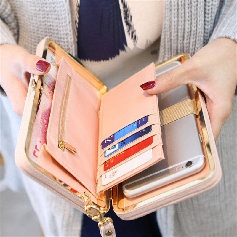 Luxury Clutch Wallet w/ Phone Holder .