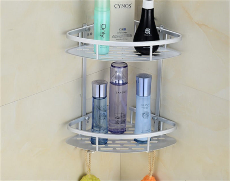 2 LAYER TRIANGULAR BATHROOM ORGANIZER