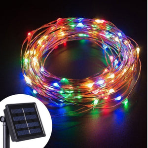 SOLAR LED CHRISTMAS LIGHT (200 LED LIGHT, 20 METERS) .