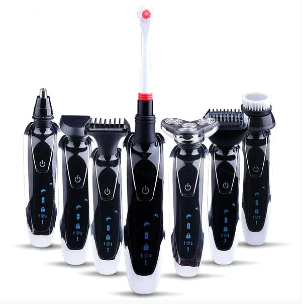 7 in 1 Men's 3D Electric Razor, Trimmer & Brush Kit