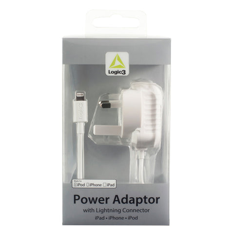 Lightning Connector AC Adaptor for iPad / iPhone / iPod (2.4A) - UK Version