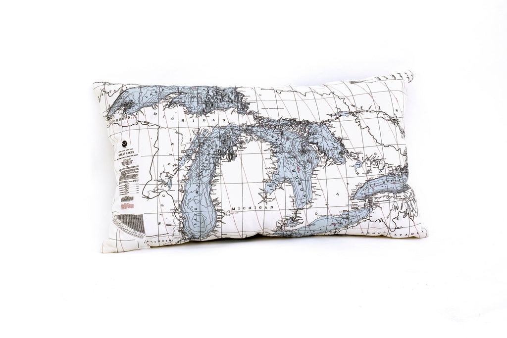 Great Lakes Indoor/Outdoor Nautical Pillow