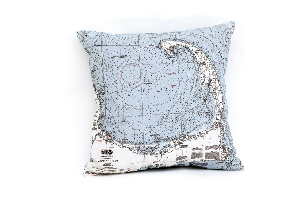 Cape Cod Indoor/Outdoor Nautical Pillow - Nautical Lake Art