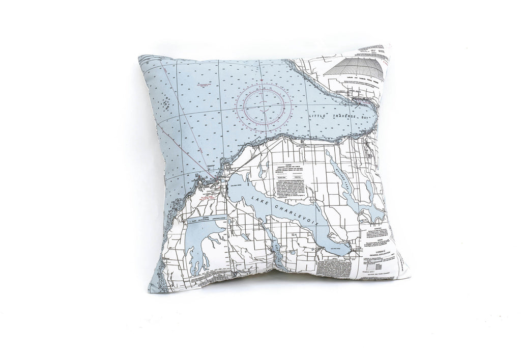 Little Traverse Bay, MI Indoor/Outdoor Nautical Pillow