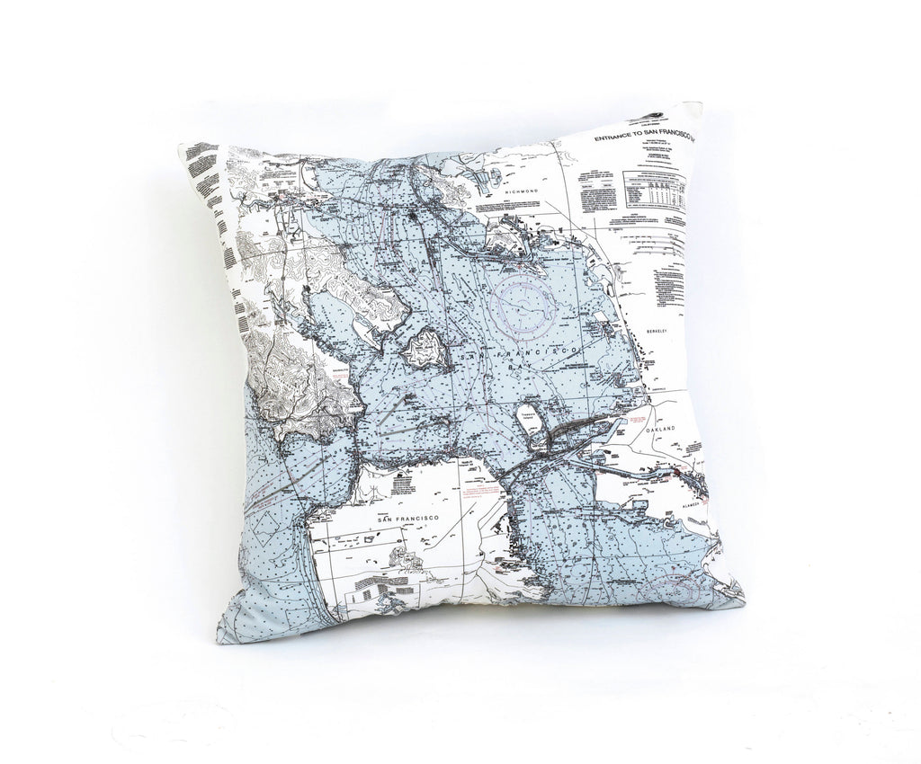San Francisco, CA Indoor/Outdoor Nautical Pillow