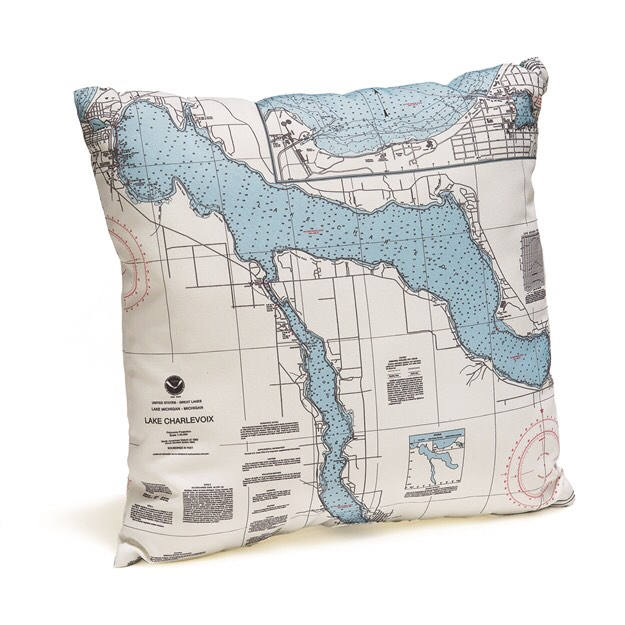 Lake Charlevoix, MI Indoor/Outdoor Nautical Pillow
