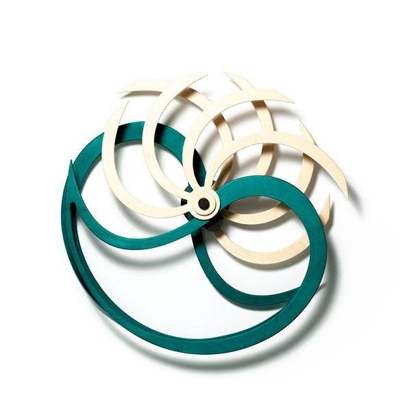 Nautilida Kinetic Art / Wall Sculpture (Green) - Nautical Lake Art