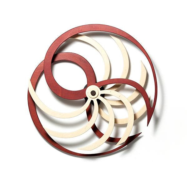 Nautilida Kinetic Art / Wall Sculpture (Red) - Nautical Lake Art