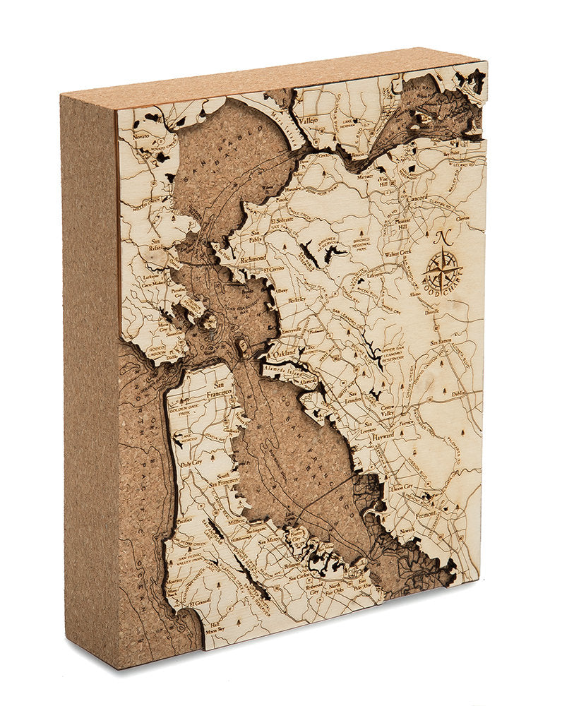 San Francisco Topographic Cork Decoration