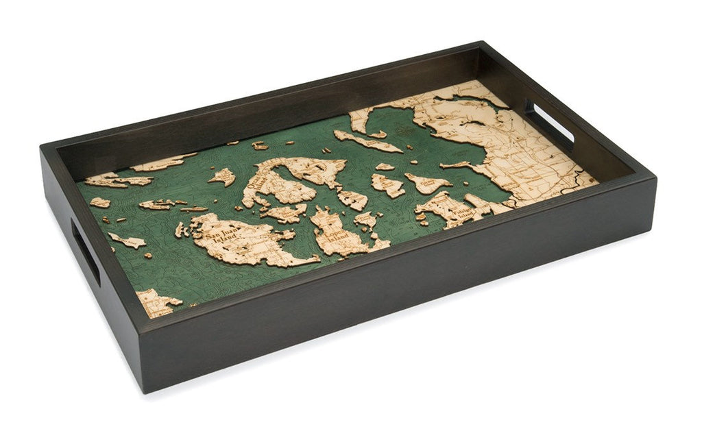 San Fransisco Wooden Topographical Serving Tray