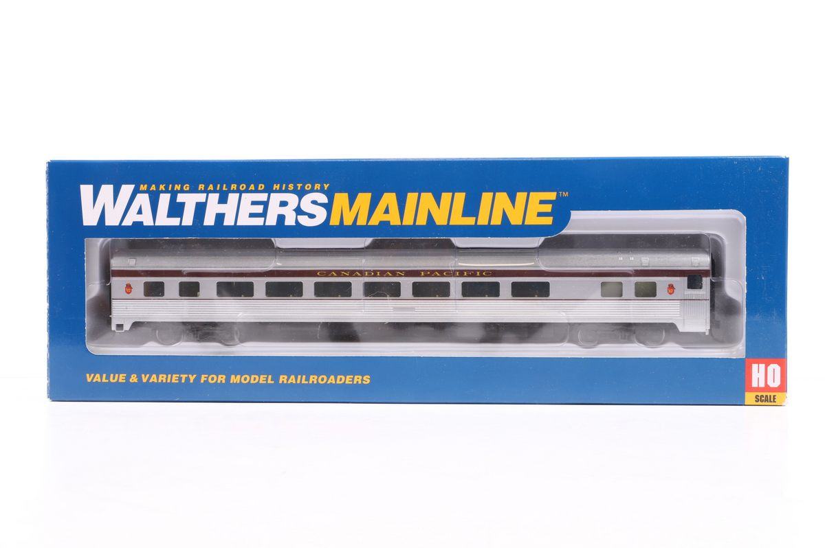Walthers HO Rake of 8 85' Budd Canadian Pacific Coaches, Inc. 910-30004 & 30154, 932-6469, 2 x 89, 2 x 69 & 6509