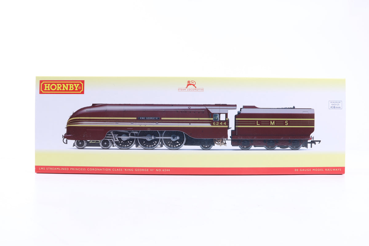 Hornby OO R3639 LMS Streamlined Princess Coronation Class 'King George VI' No.6244