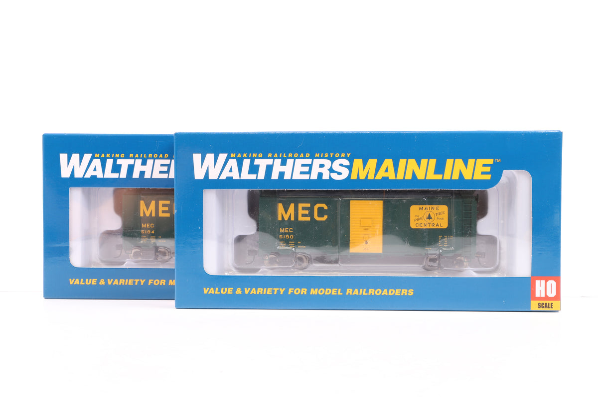 Walthers HO Pair of 40' AAR Modified 1937 Box Cars Maine Central, Inc. 910-2719 & 2720