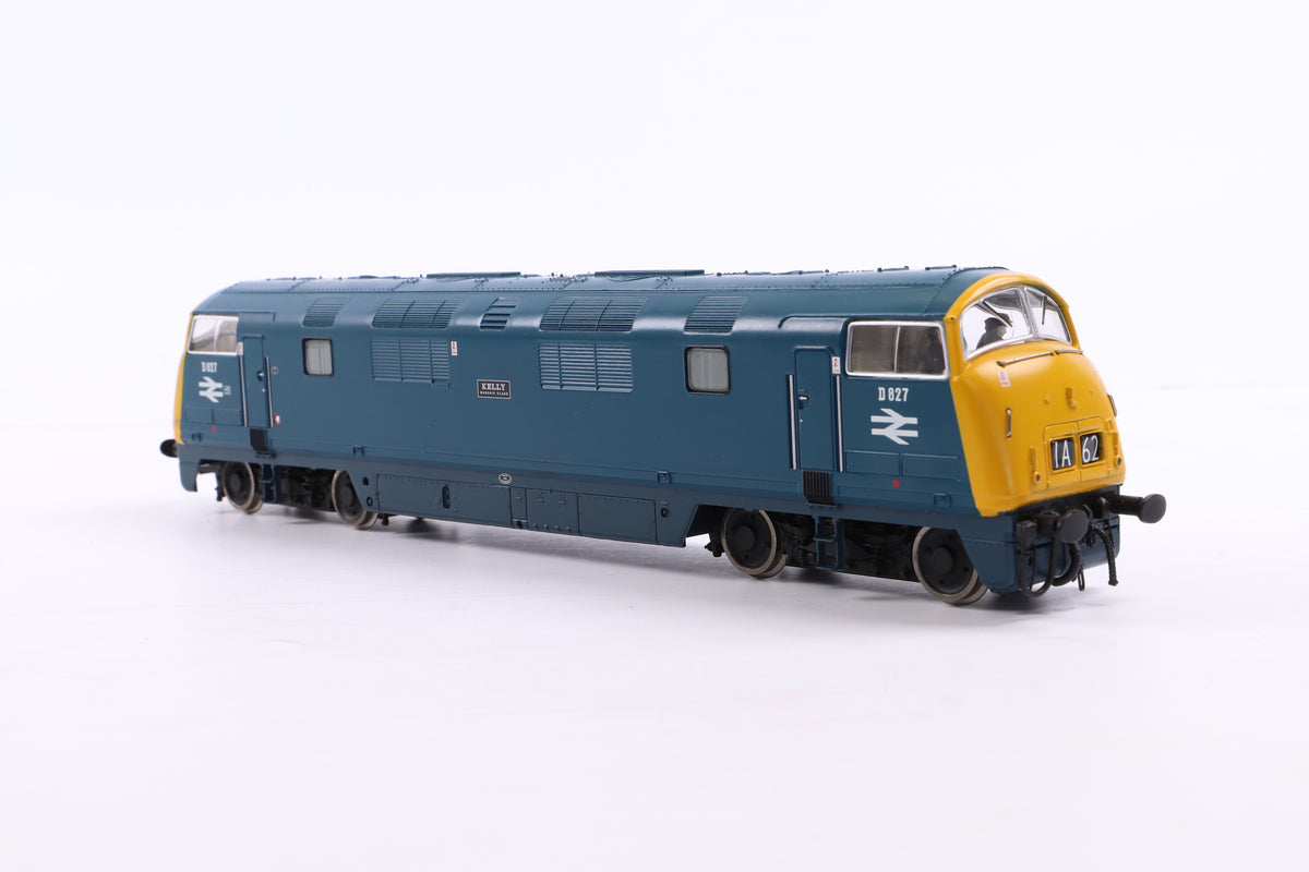 Bachmann OO 32-056DC Class 42 Warship D827 'Kelly' BR Blue, DCC Fitted