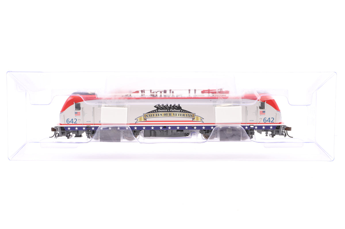 Bachmann HO 67403 ACS-64 Electric Loco Amtrak #642 - Salutes Our Veterans, DCC Sound