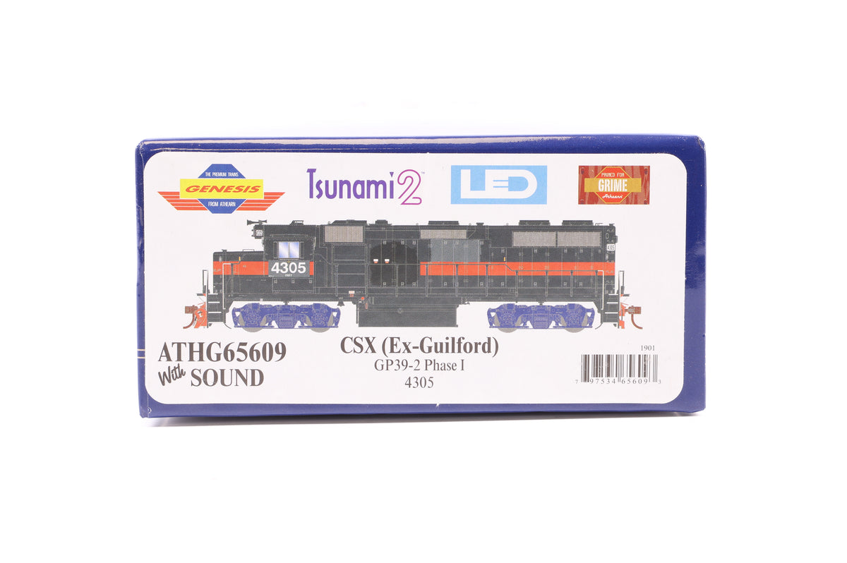 Athearn HO ATHG65609 CSX (Ex-Guildford) GP39-2 Phase I 4305, DCC Sound