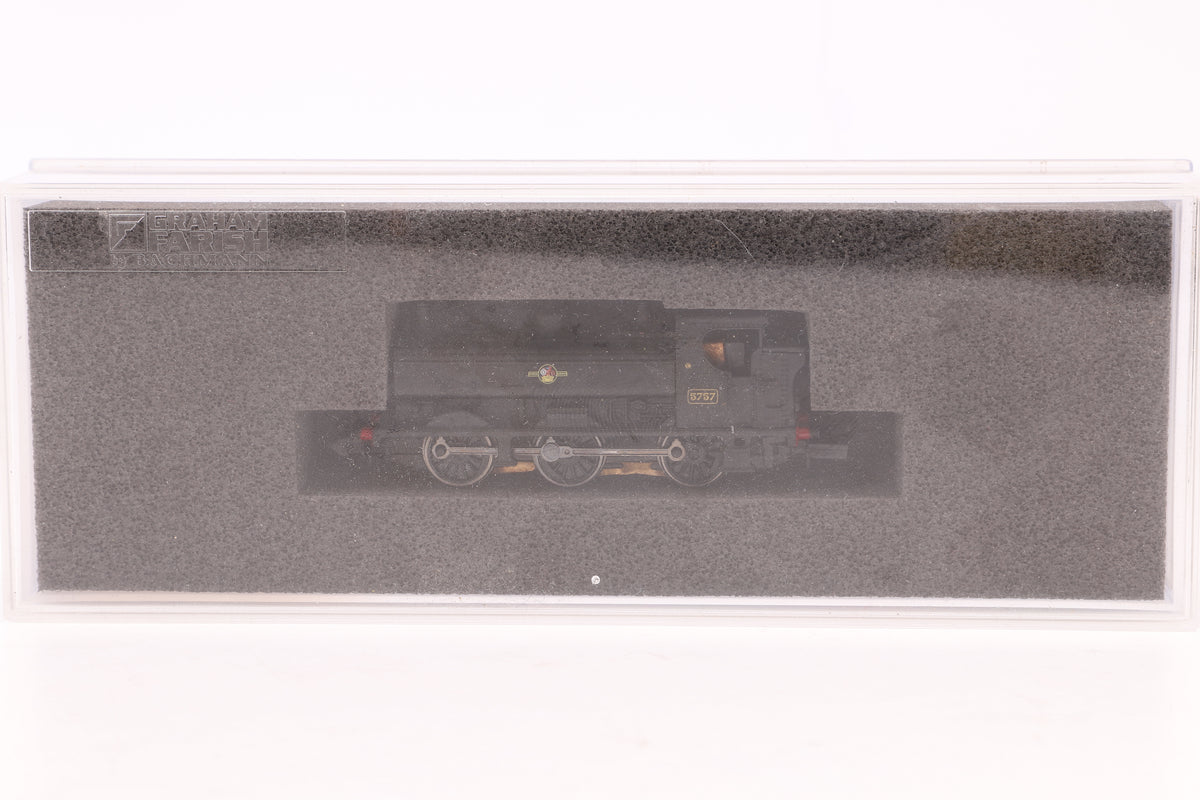 Graham Farish Item No. 371-908 N Gauge BR Black Pannier Tank '5757'