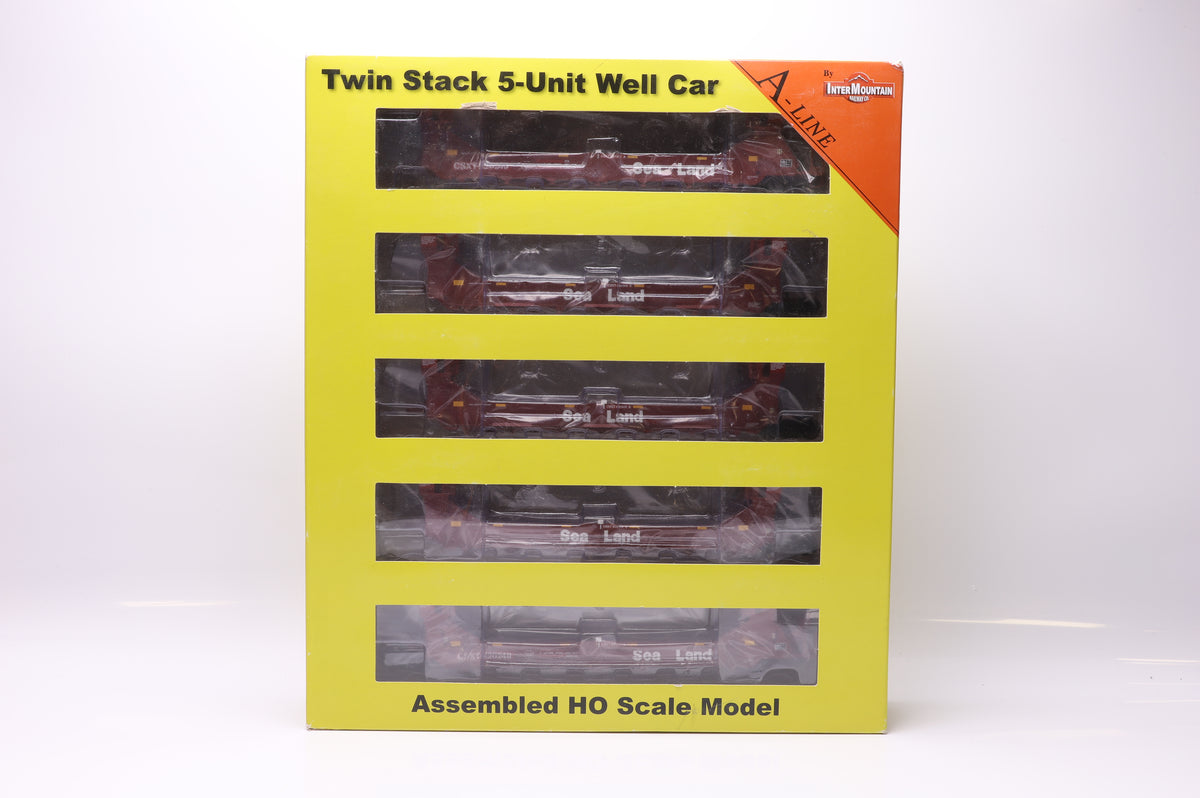 InterMountain HO 47604-15 Gunderson Twin Stack 5-Unit Set Sea Land -CSXT Patch Car No 620249