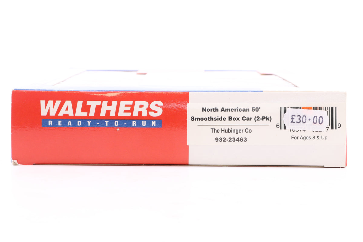 Walthers HO 932-23463 North American 50' Smoothside Box Car (2-Pack) The Hubinger Co