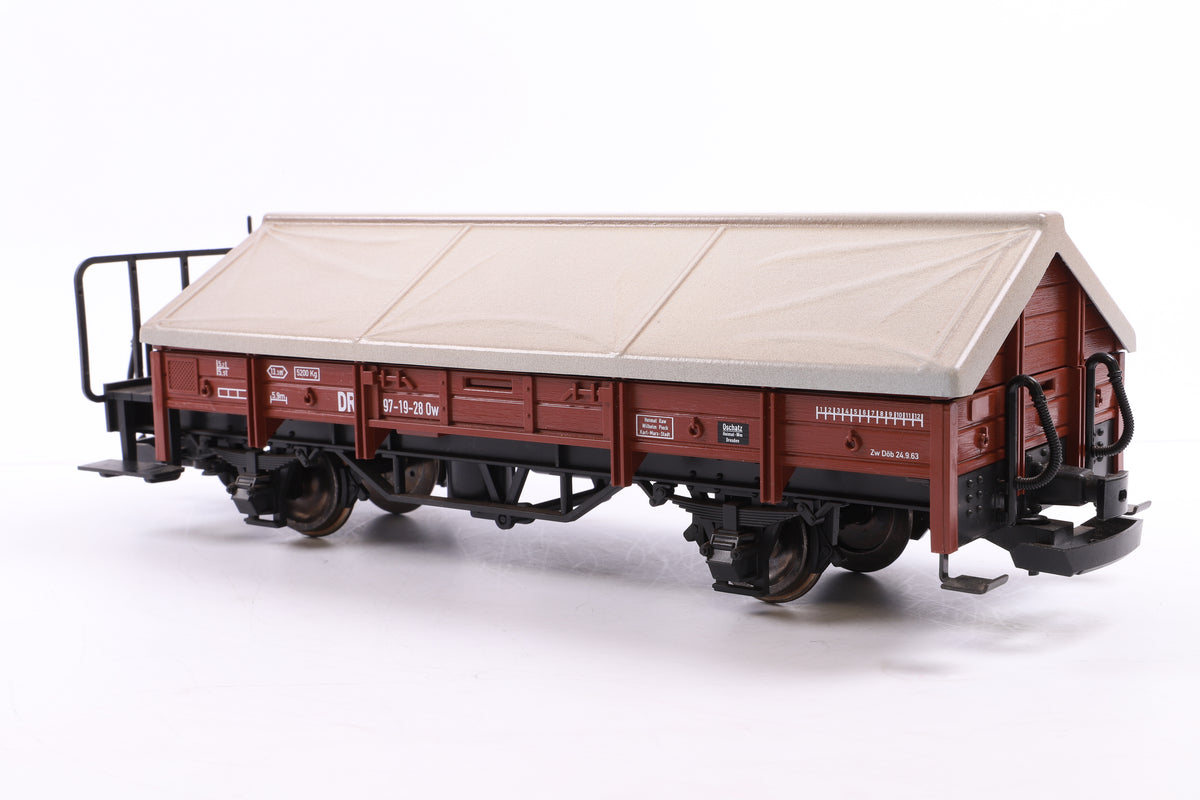 LGB G Scale 41230 Dr Brown Klapendecker Covered Goods Lime Wagon 97-19-28