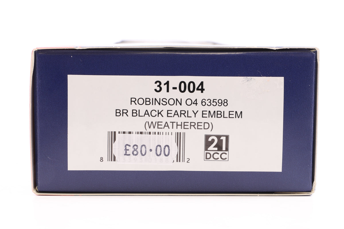 Bachmann OO 31-004 Robinson O4 63598 BR Black Early Emblem (Weathered)