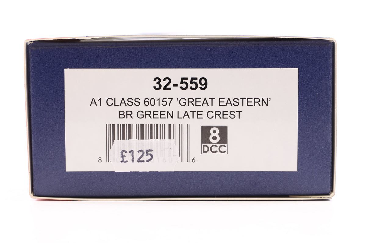 Bachmann OO 32-559 A1 Class 60157 'Great Eastern' BR Green Late Crest