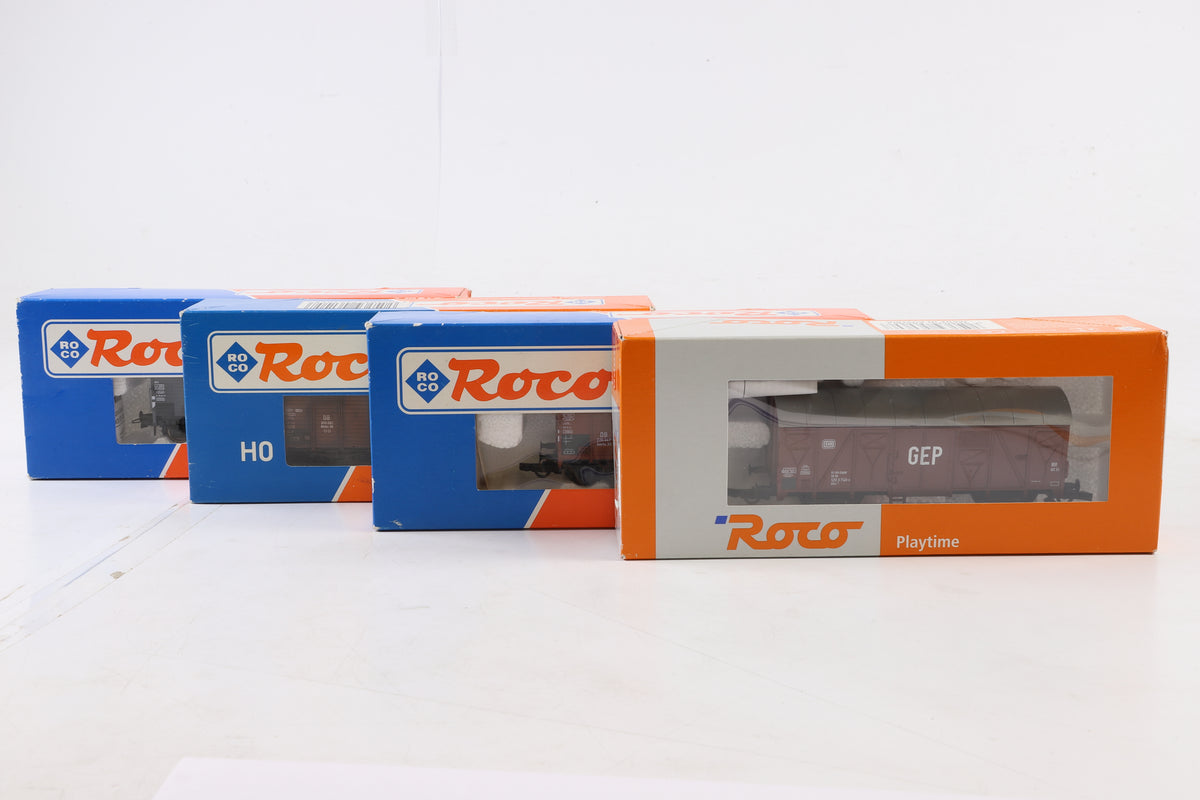 Roco HO Rake of 8 Wagons Incl. 56060, 46820, 46105, 47054, 46266, 2 x 46822 + 46256
