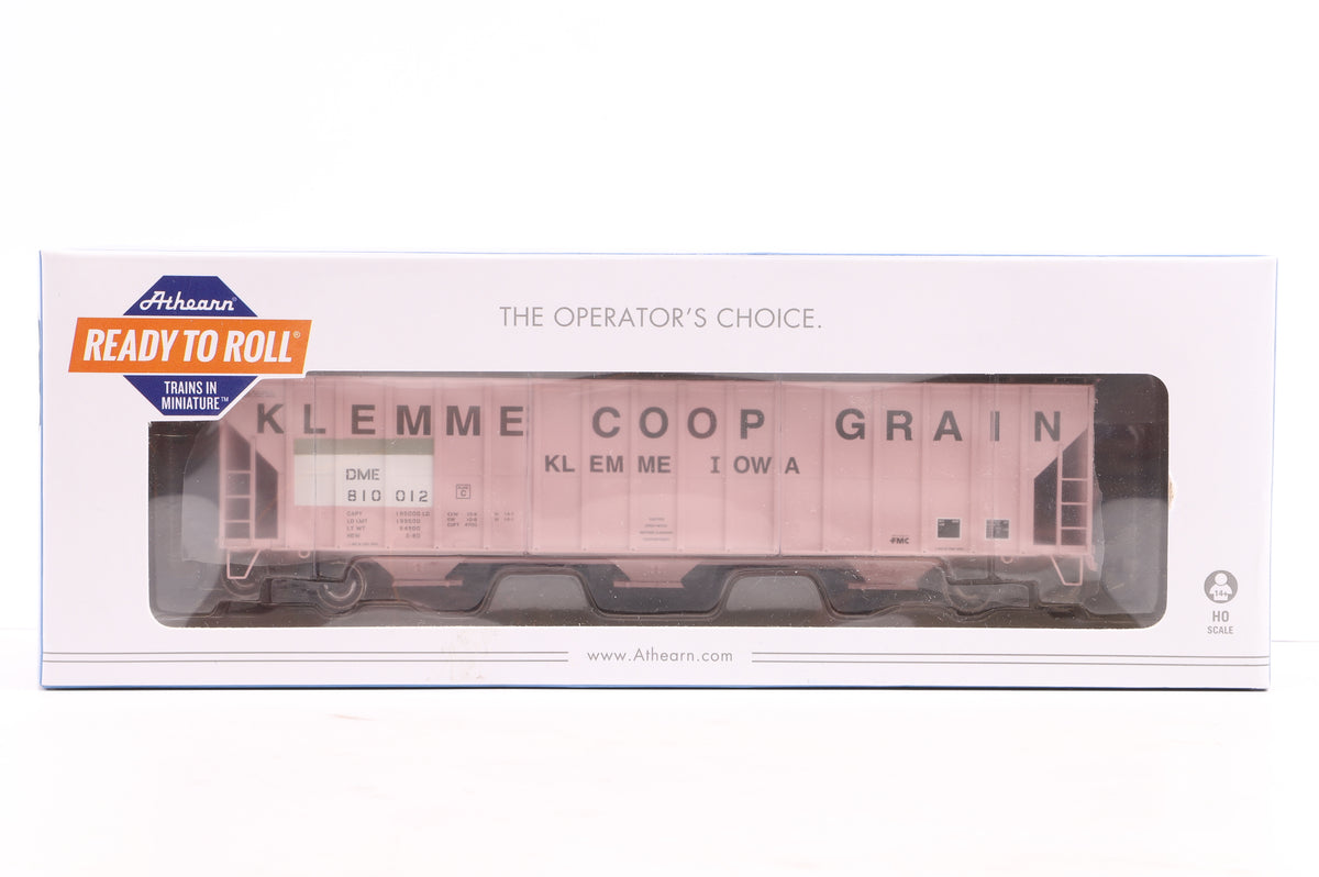 Athearn HO Rake of 2 x 50' PS 5344 Box Cars & 1 x 57' FMC 4700 Covered Hopper Wagon