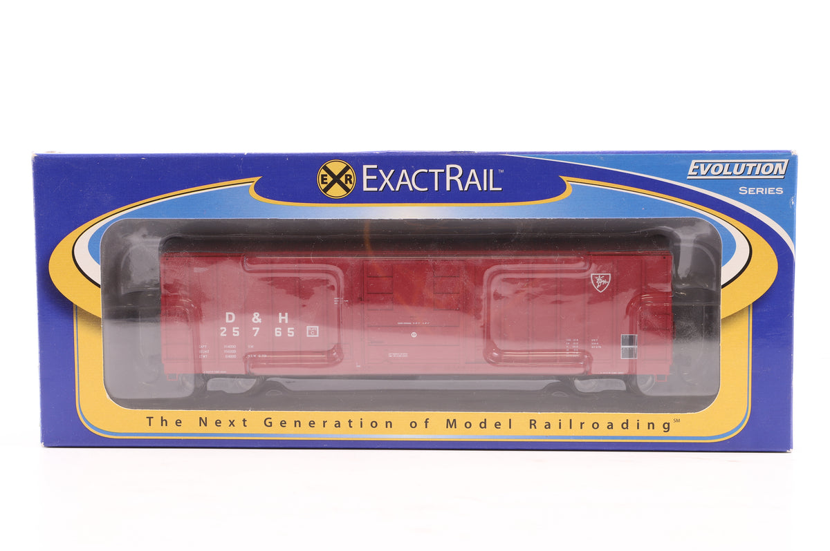 ExactRail HO Pair of Box Cars, Inc. 25765 Delaware & Hudson & 49771 MNS